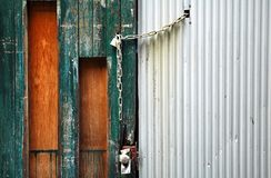 Chain lock door Stock Photos
