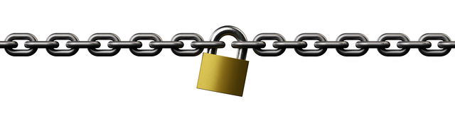 Chain lock Royalty Free Stock Photos