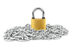 Chain and lock Stock Image