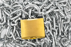 Chain and lock Royalty Free Stock Photos