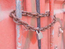 Chain Lock Shipping Container Stock Images