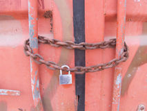 Chain Lock Shipping Container Royalty Free Stock Photo