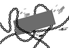 Chain lock with tag Stock Images