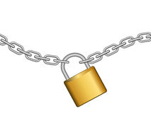 Chain with lock Royalty Free Stock Images