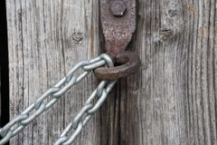 chain lock on wooden wall royalty free stock photos