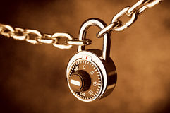 A Chain locked by a lock Stock Photo