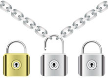 Chain and locks Royalty Free Stock Photography