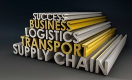 chain logistiktillförsel Arkivfoton