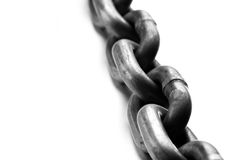 Chain macro Royalty Free Stock Image