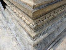 Chain made of single stone. At Dharmasthala at Gomateshwara Hill Stock Images