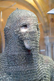Chain of mail on the face. Of a mannequin in the castle of Vianden royalty free stock photography