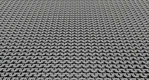 Chain mail - Lorica Hamata. Sheet of European style chain mail Royalty Free Stock Photos