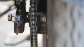 Chain Maintenance Close Up stock video