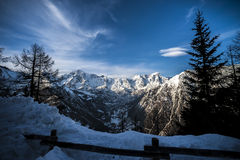 Chain massif mont blanc. Massif Mont Blanc view from courmayeur royalty free stock photo
