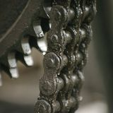 Chain mechanism. A close up photo of chain mechanism Stock Photography
