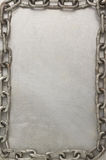 Chain on metal   background Royalty Free Stock Photography