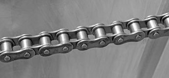 Chain on a metal background Stock Photo