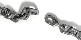 Chain Missing Link Apart Royalty Free Stock Photo