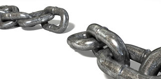 Chain Missing Link Apart Royalty Free Stock Image