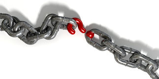 Chain Missing Link Question Mark Royalty Free Stock Images