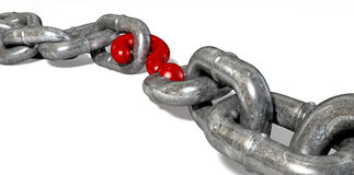 Chain Missing Link Question Mark Stock Image