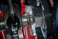 Chain motor för tajming royaltyfri bild