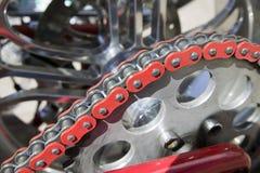 chain motorcykel arkivbilder