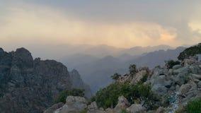 Chain of mountains. Mountains along the horizon Stock Image
