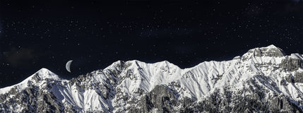Chain of mountains in winter Royalty Free Stock Image