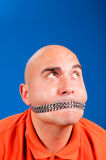 Chain on the mouth Royalty Free Stock Photography