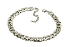 Chain necklace silver. Stock Photo