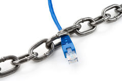 Chain and Network Connection Plug Royalty Free Stock Image