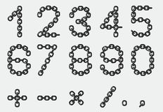 Chain numbers - cdr format Stock Images