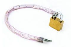 Chain nyckel- stål Royaltyfri Foto