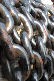 Chain. Of old historical helm Stock Photo