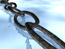 Chain over water Stock Images
