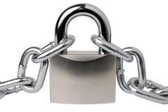 chain padlock Arkivbild