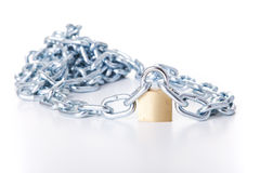 Chain with a padlock Stock Photography