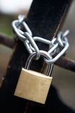 Chain and padlock Stock Image