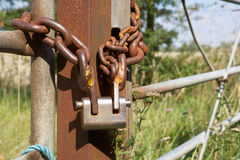 Chain and padlock Royalty Free Stock Image