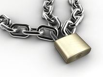 Chain and padlock Stock Photography