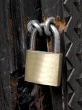 chain padlock Arkivfoto