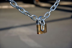 Chain with a padlock Royalty Free Stock Photography