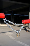 Chain with a padlock Royalty Free Stock Photo