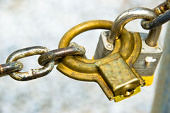 Chain and Padlocks Royalty Free Stock Photos