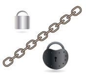 Chain and padlok Royalty Free Stock Images
