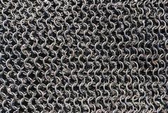Chain pansar för traditionellt handgjort celtic järn Arkivfoton