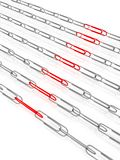 Chain of paper clips Stock Photo