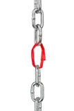 Chain with paper link Stock Photo