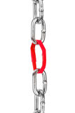 Chain with paper link Stock Image